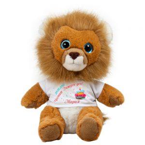 лъв с надпис