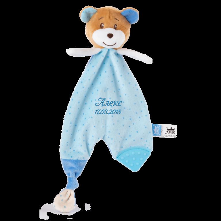 бебешка кърпа мече с надпис