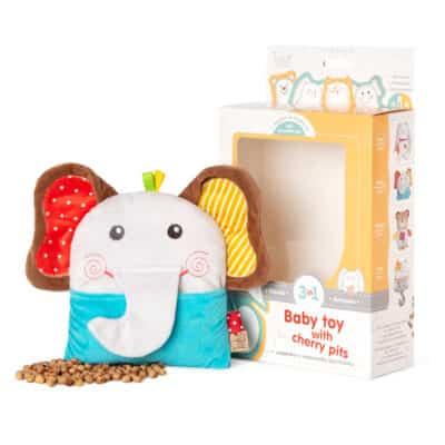 Бебешки играчки с черешови костилки и как помагат те за справяне с бебешките колики