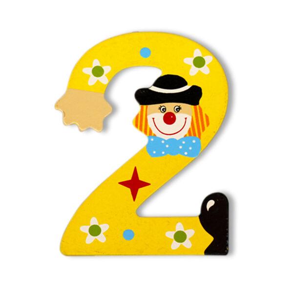Декоративна дървена цифра - 2
