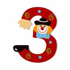 Декоративна дървена цифра - 3