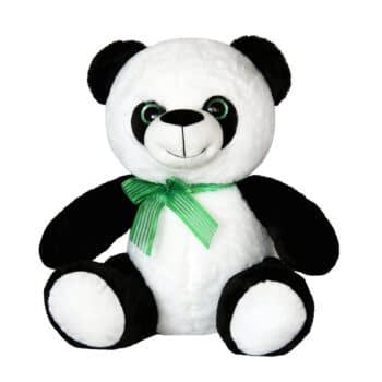 Панда със зелена панделка