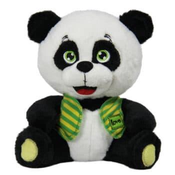 Панда със зелен елек