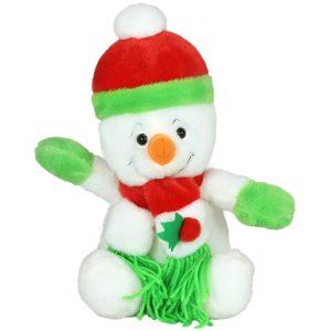 Снежен човек с шапка и шал