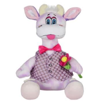 Лилава крава с цвете