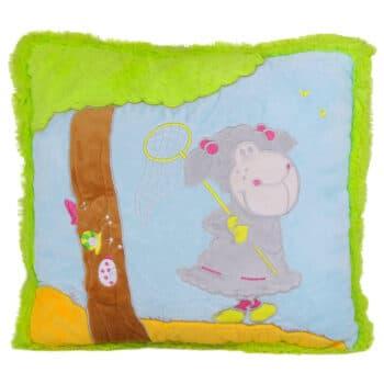 Зелена възглавница с овчица