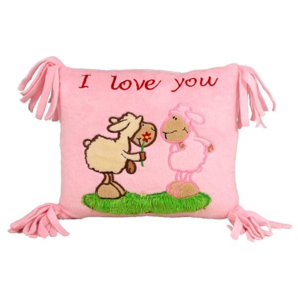 Възглавница с двойка овце