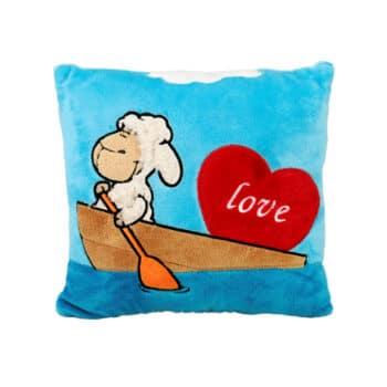 Синя възглавница с овчица