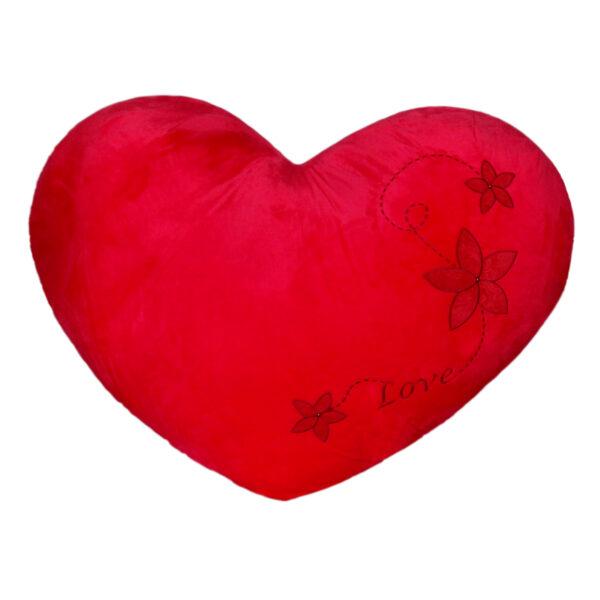 Огромно плюшено сърце с кристални камъни
