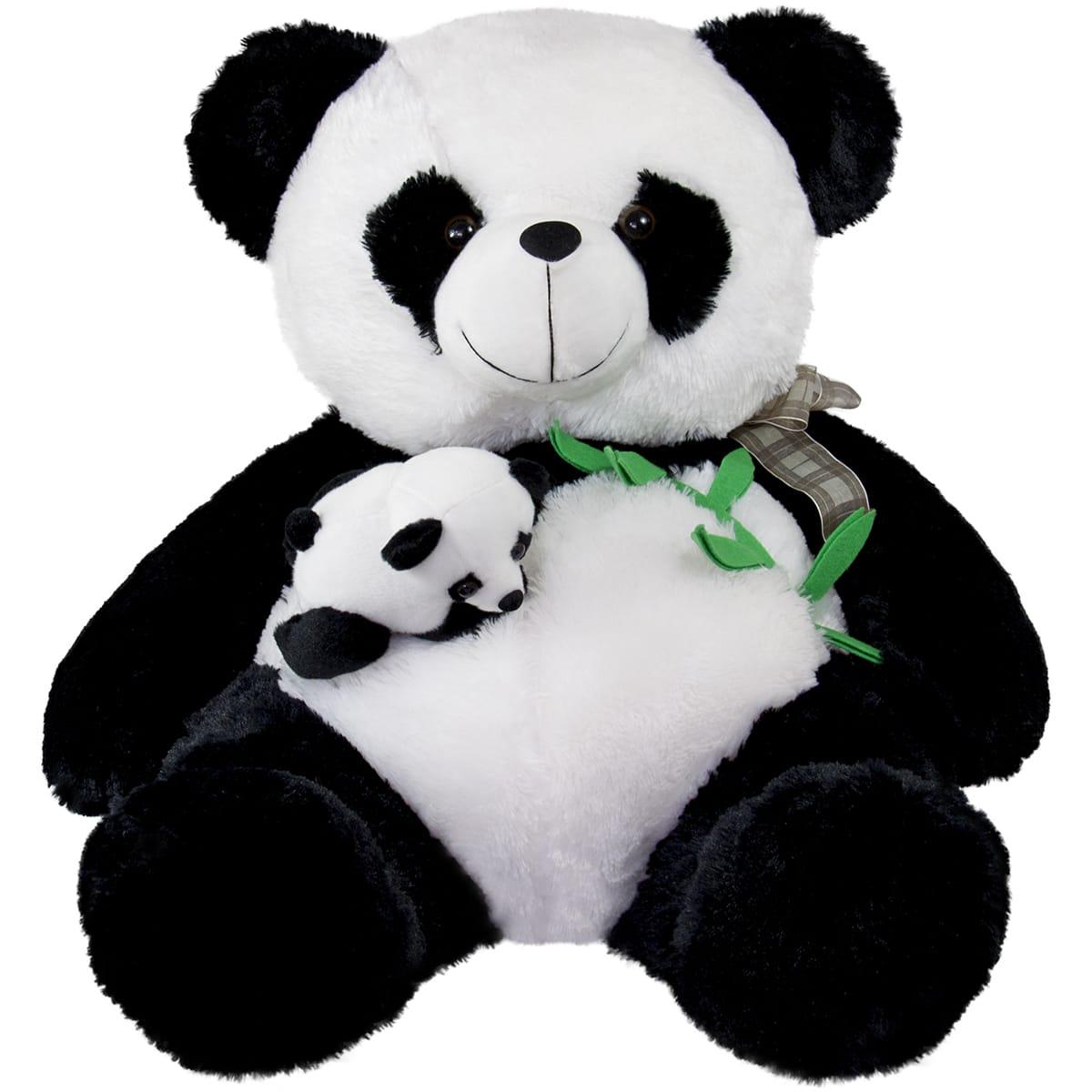 Панда с бебе| 55 см