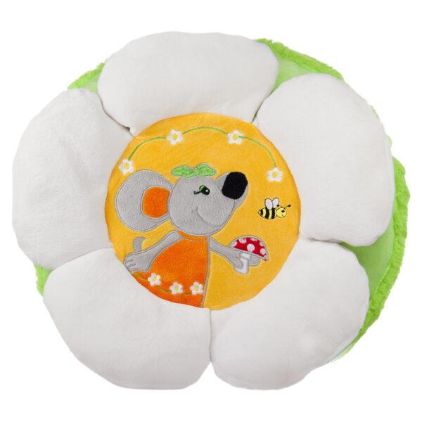 Възглавница - маргаритка с мишле