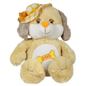Куче с жълта шапка