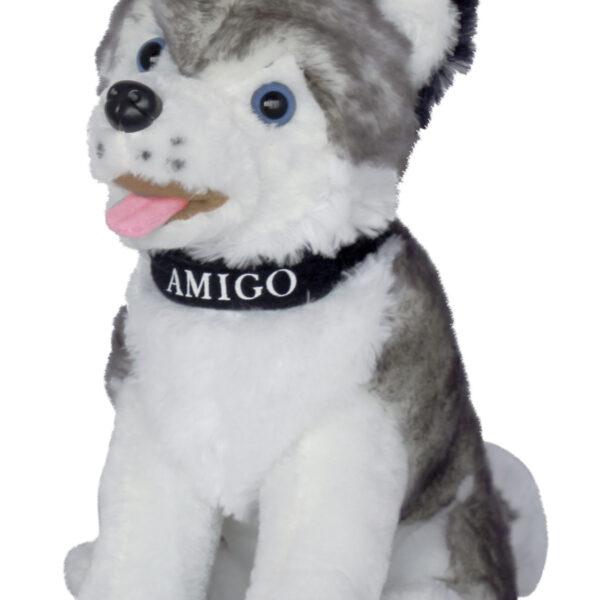 """Куче хъски с каишка """"Amigo""""  30 см"""